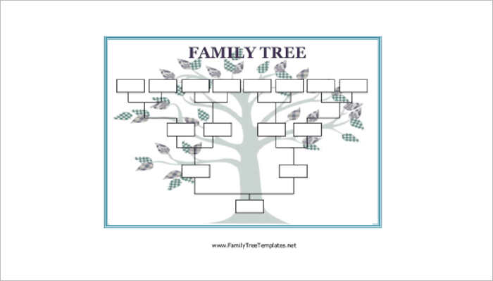 18 family tree templates free ppt excel word formats for Fill in the blank family tree template