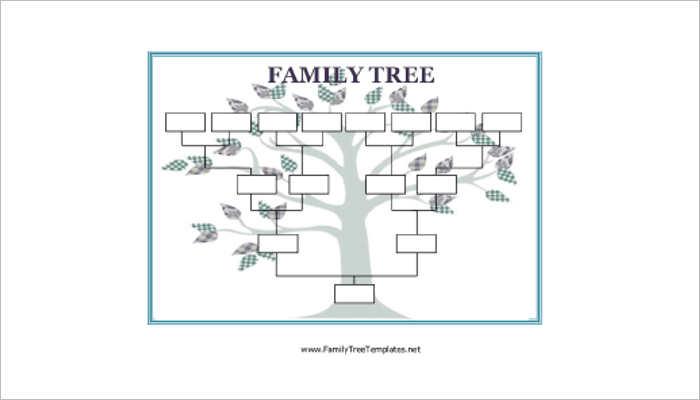 Blank Family Tree Templates