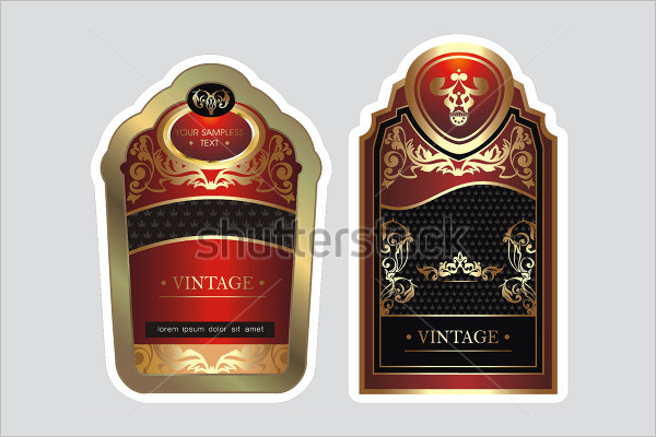 Bottle Lable Design tempolates