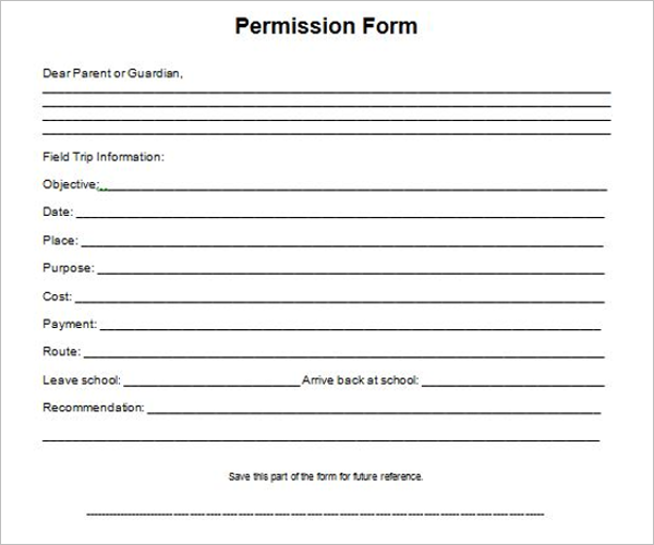 Boy Scout Permission Slip Template