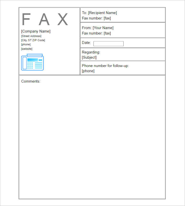 Business Fax Cover Sheet Document