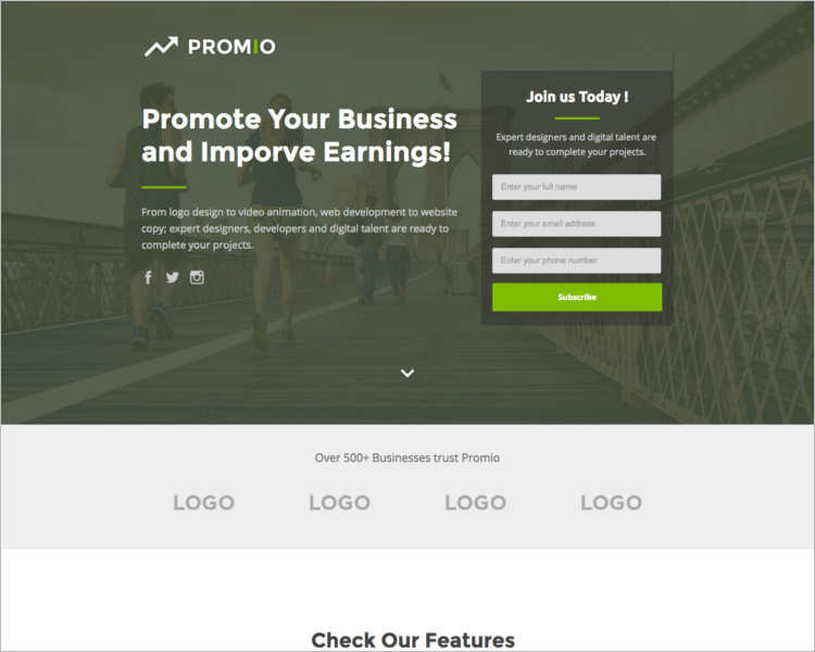 business-marketing-landing-page-templates