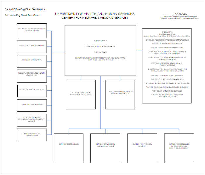 Organizational Chart Templates Free Word Excel Formats - Easy to use org chart template