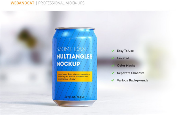 Can Mockup Photoshop Template