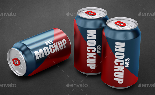 Can Packaging Mockup Design