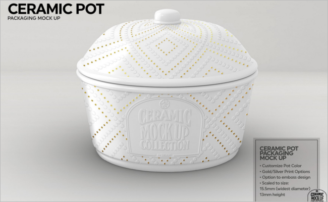 Ceramic Pot Packaging Mockup Design