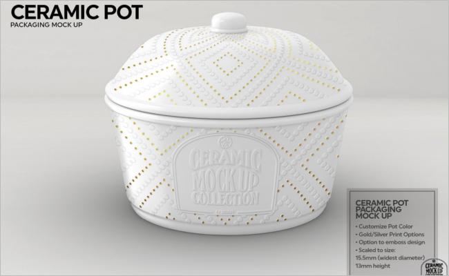 Ceramic Pot Packaging Mockup Design