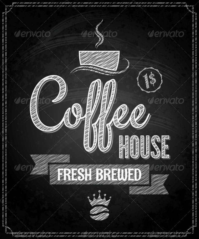 Chalkboard Coffe Menu Background Design