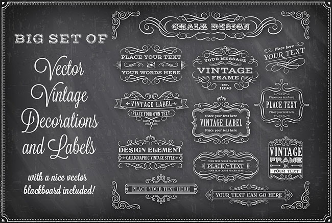 Chalkboard Decorations Background Designs