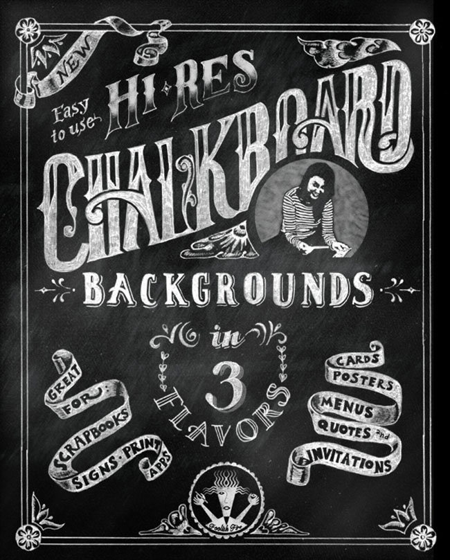Chalkboard Lettering background design