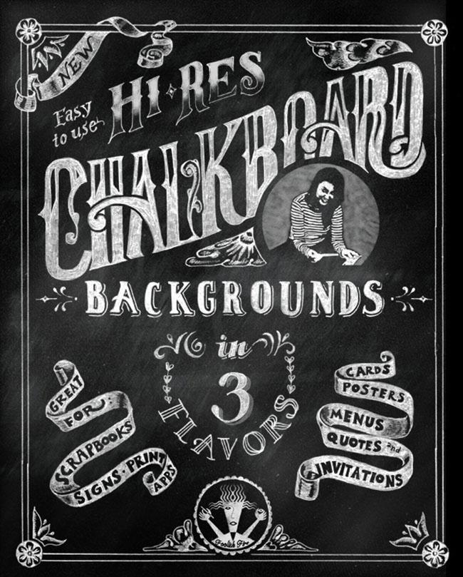 Chalkboard Lettering background design