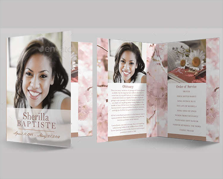 cherry-funeral-program-template
