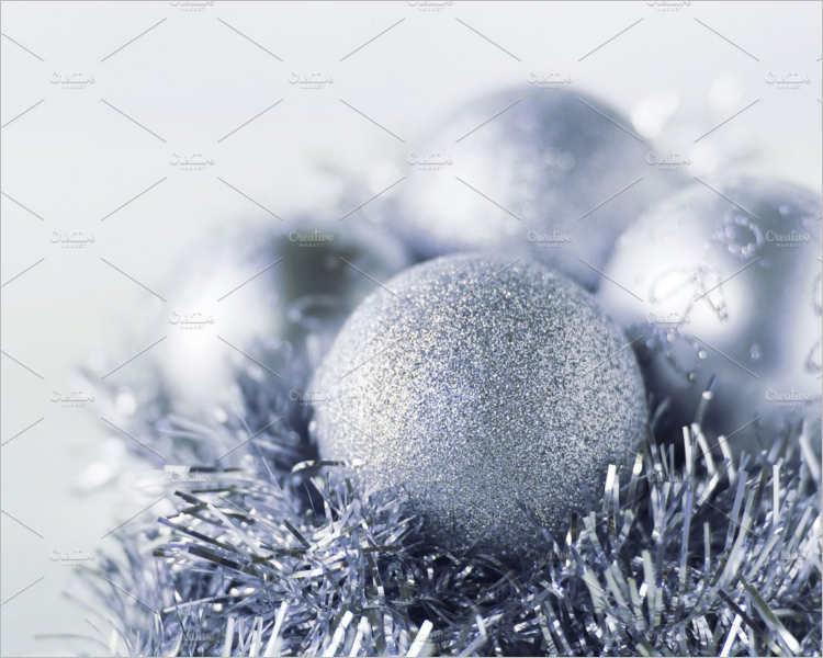 Christmas sparkle Silver ball Decoration
