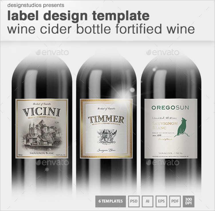 Cider Bottle Lable Design