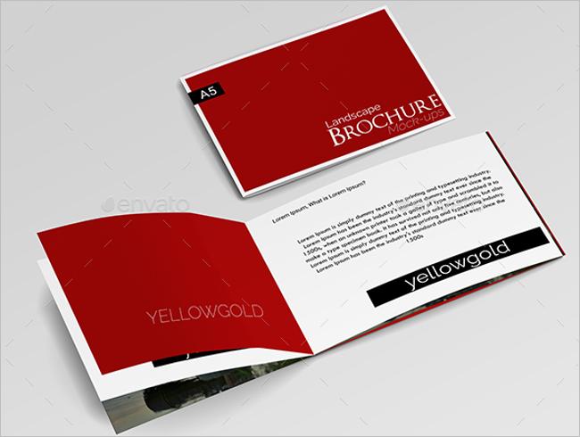 brochure design mockup - clean a5 brochure mockup design