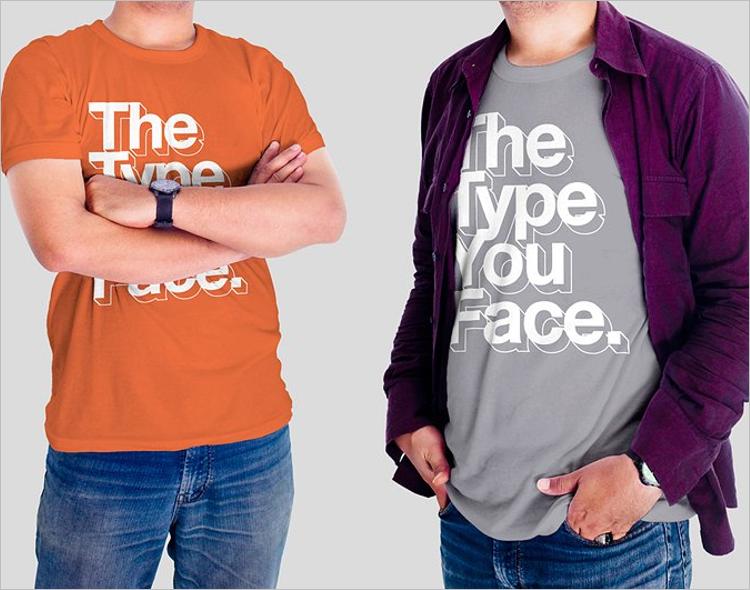 CleanT-Shirt Mockup Design