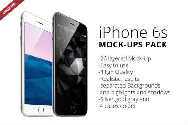 Clean iPhone 6 Mockup Design