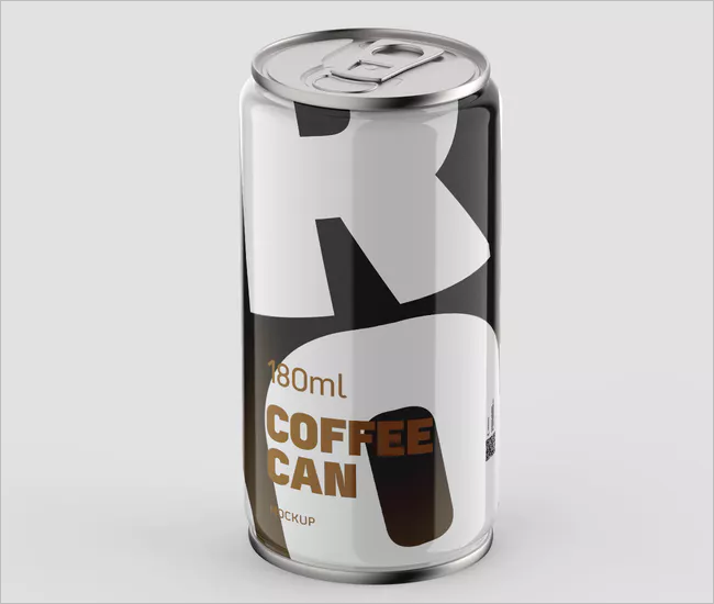 Coffee Can Mockup Design