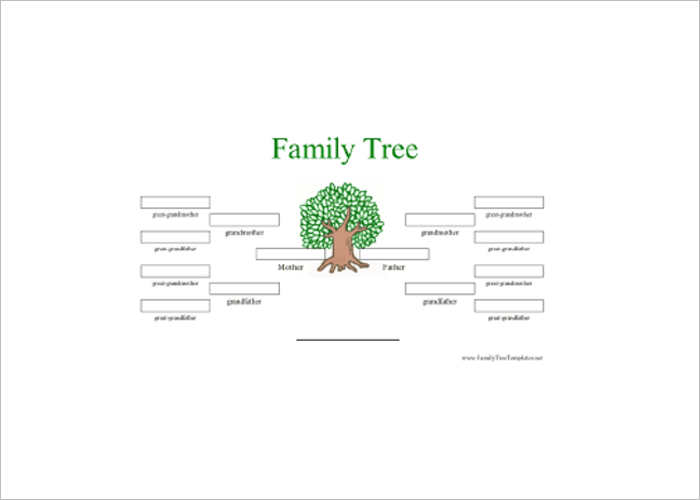 Color Family Tree Excel Template