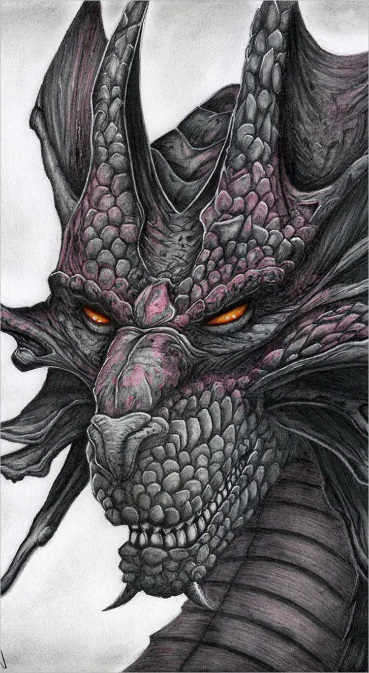 Colordragon drawing design