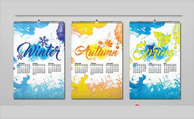 Colourful 2017 Calendar Mockups