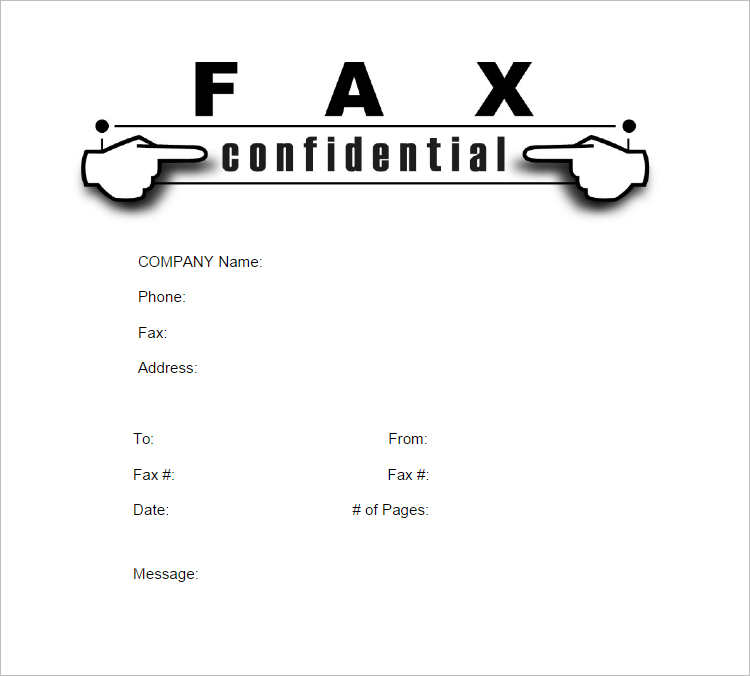 Confidential Fax Cover Sheet Form