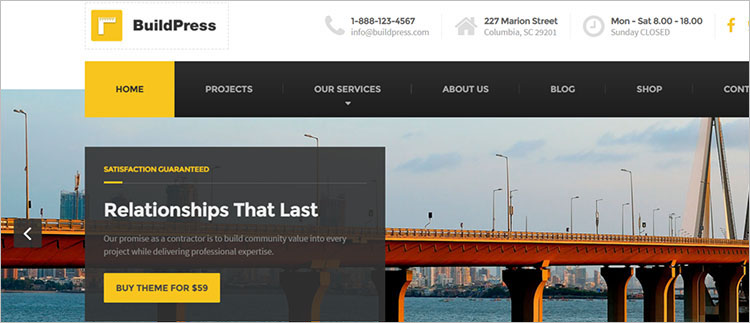 Construction Business WordPress Theme Template