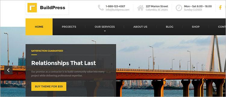Construction Business WordPress Theme Template