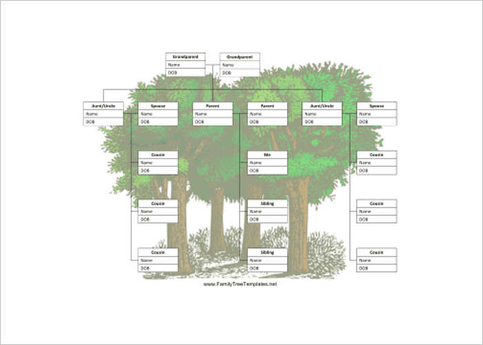 Cousins Family Tree Template Word Form