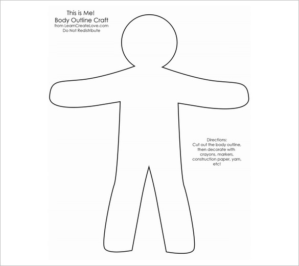 Craft Body Outline Templates
