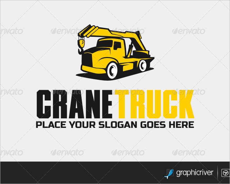 crane-truck-logo-design