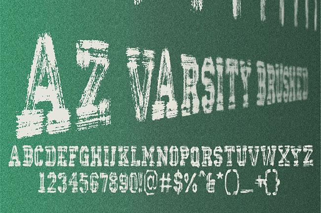 Creative Varsity Font Design