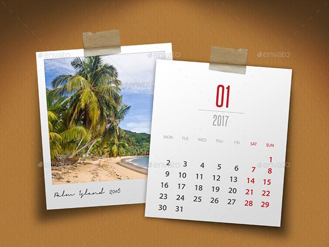 Custonizable 2017 Calendar Mockups