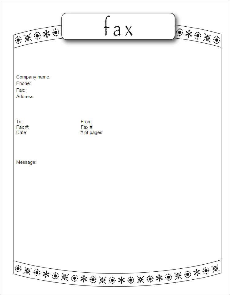 Cute Fax Cover Sheet Format