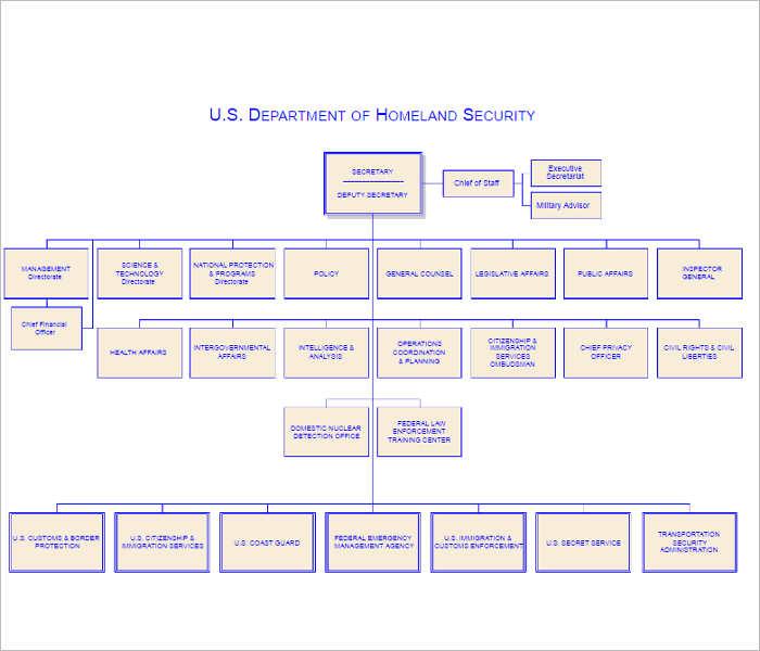 dhs-organizational-chart-templates