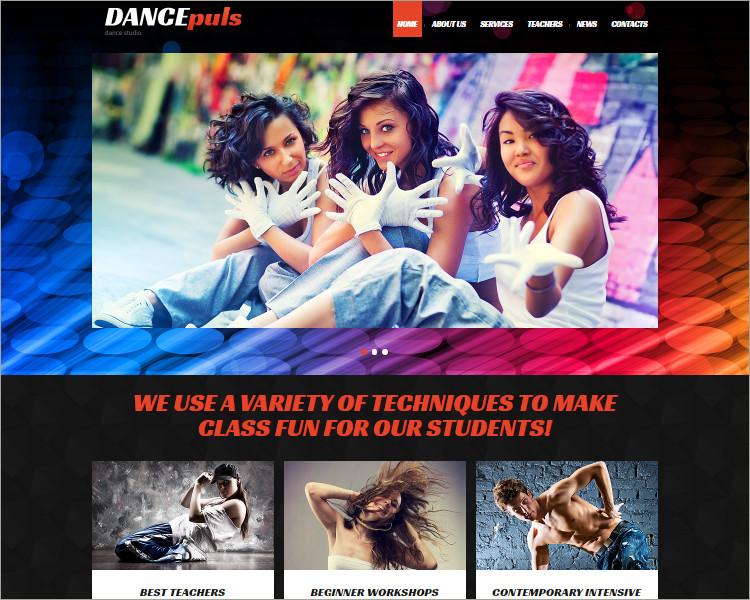 Dance Studio Joomla Theme Templates