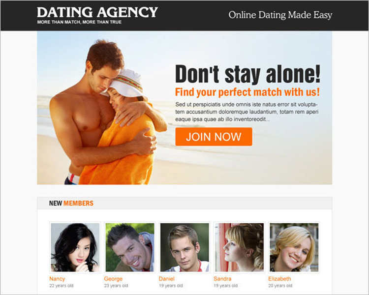 dating-agency-landing-page-templates