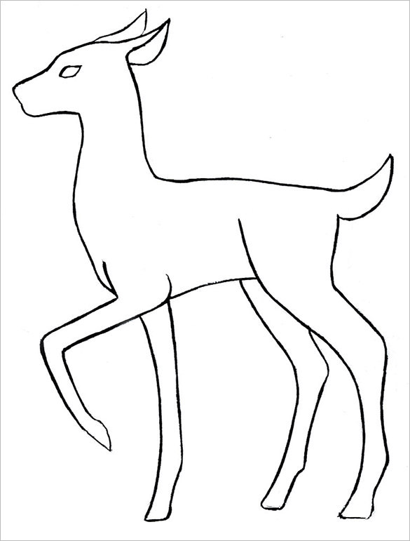 Deer Body Outline Templates