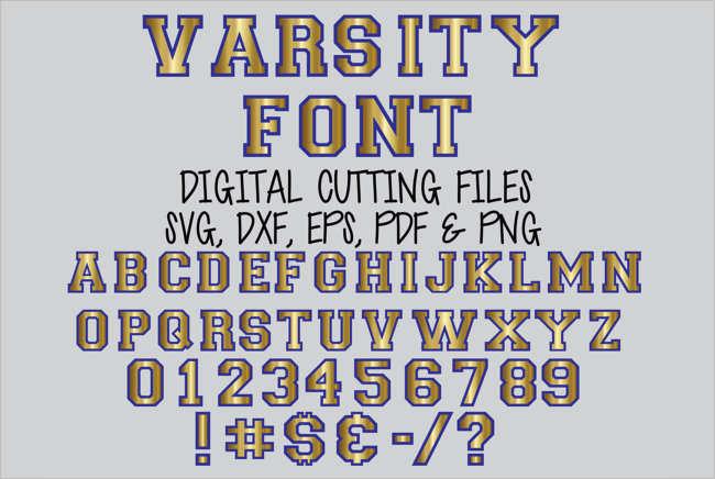 Digital Varsity Font Design