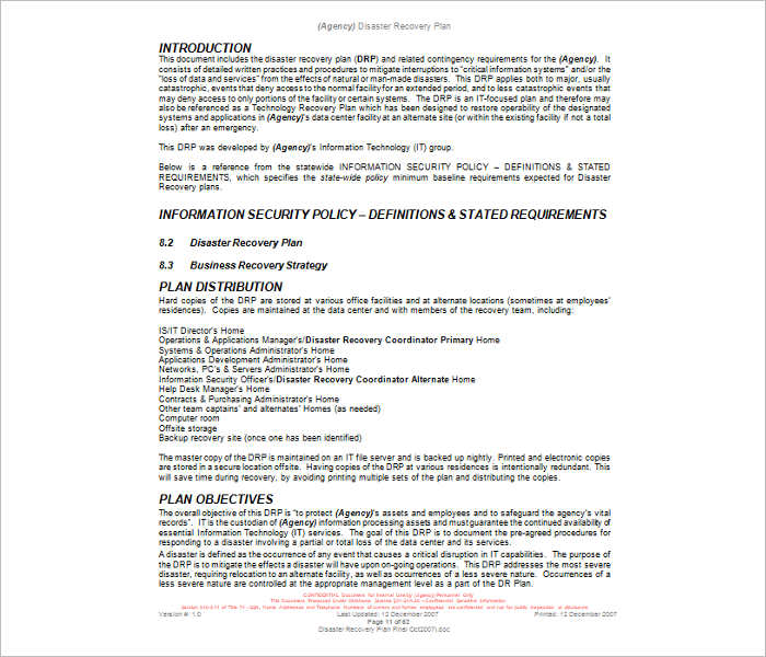 disaster-recovery-plan-template-word