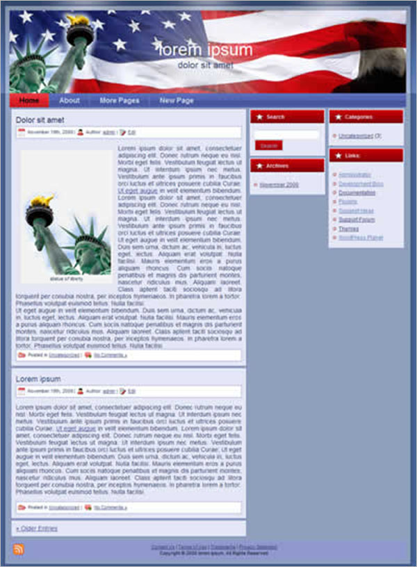 Download Patriotic WordPress Themes & Templates