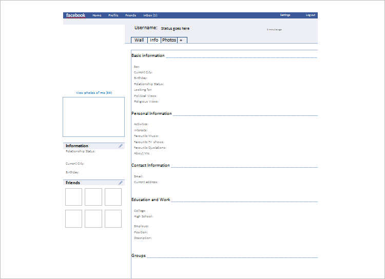 Download Sample Facebook Template