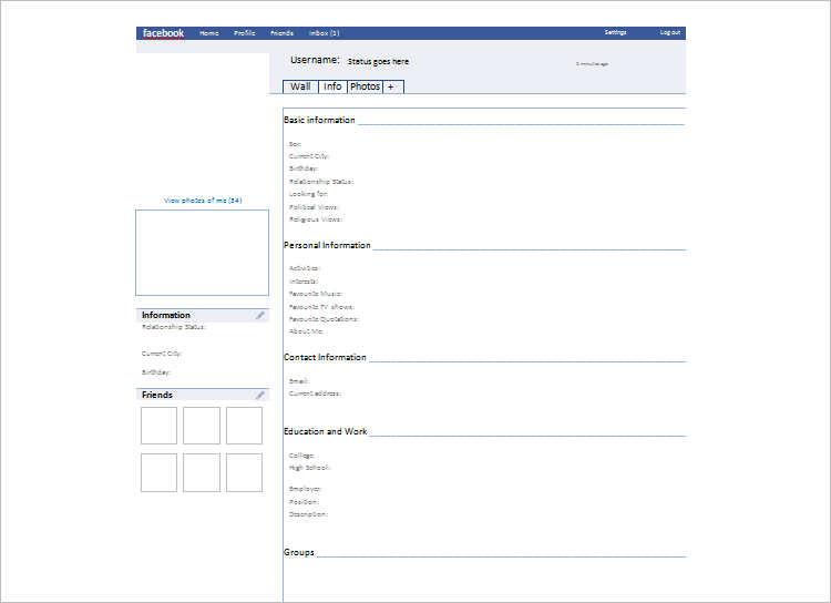 Download Sample Facebook Template