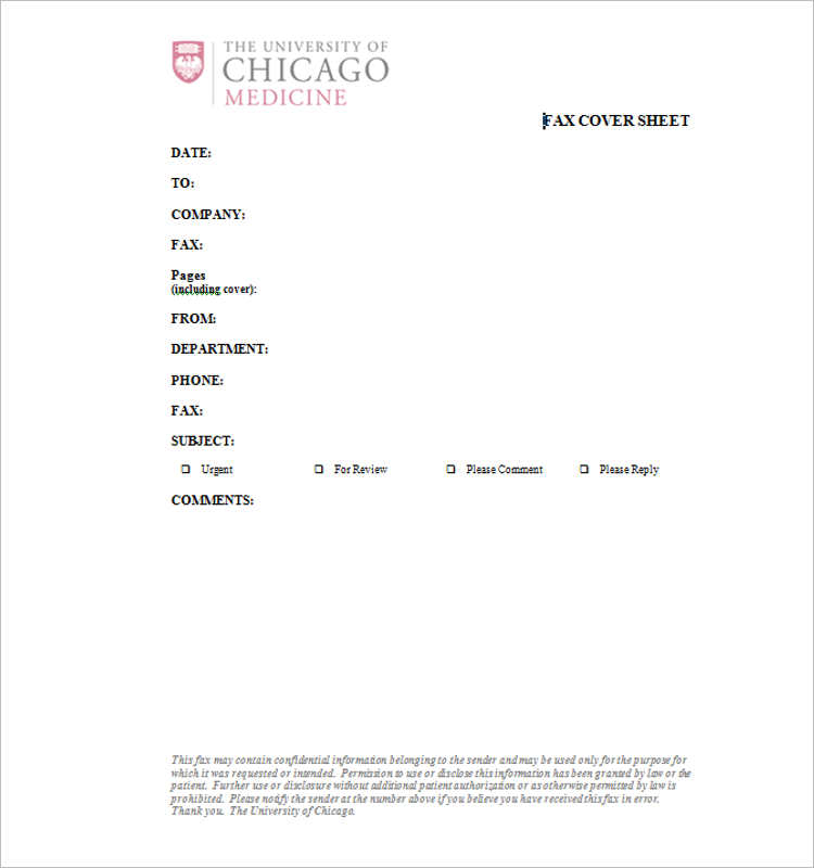 Downnload Printable Fax Cover Sheet PDF Word