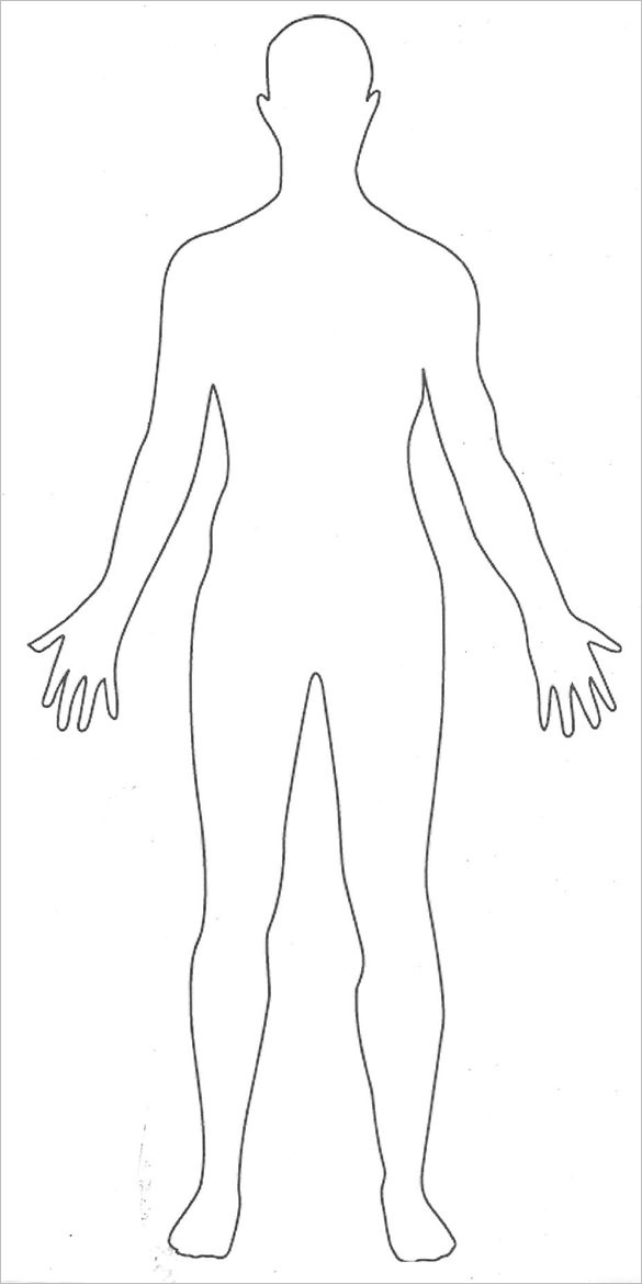 Elegant Body outline Template