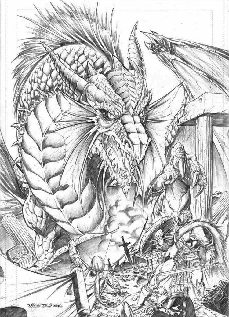 Elegant Dragon dragon Design