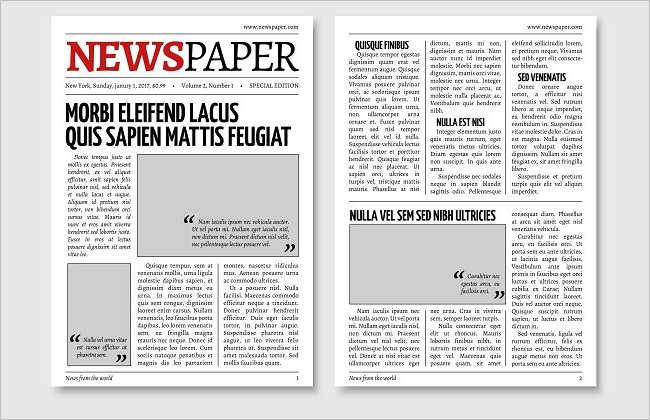 Elegant Newspaper Texture Design