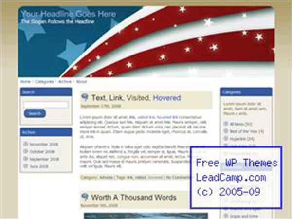 Elegant Patriotic WordPress Themes & Templates