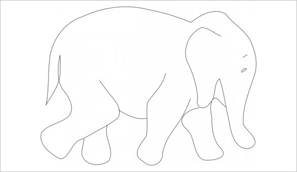 Elephant Body Outline Templates