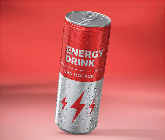 Energy Drink Can Mockup Design